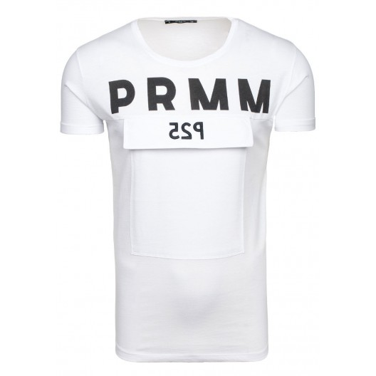 Športové tričko pre pánov v bielej farbe