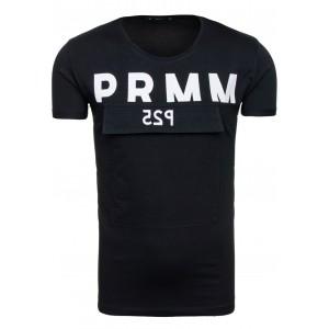 Moderné pánske tričko v čiernej farbe