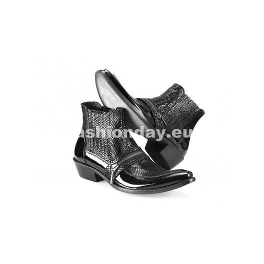 Kovbojky - lesklé čierne