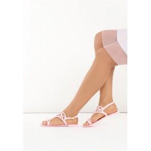 Dámske ružové sandále na leto