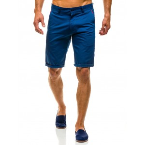 Moderné pánske šortky modrej farby