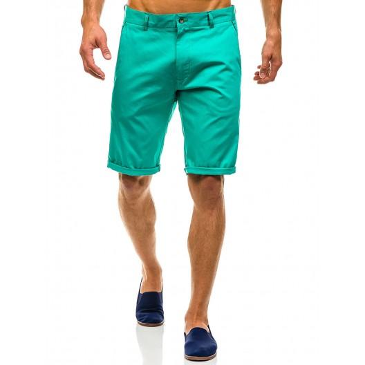 Zelené pánske kraťasy nad kolená