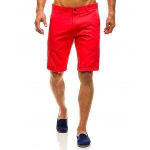 Bavlnené pánske kraťasy červenej farby