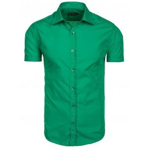 Zelená pánska košeľa s krátkym rukávom