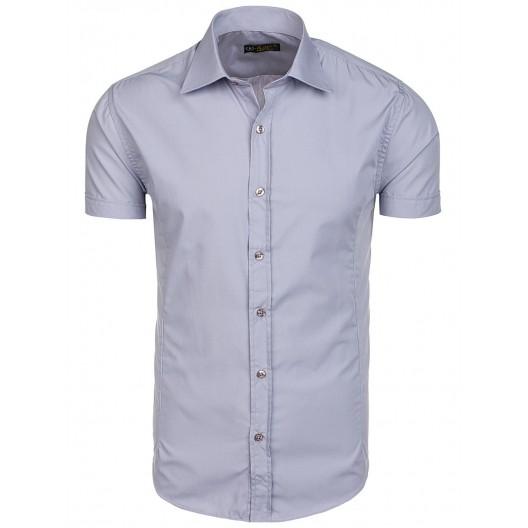 Sivá pánska košeľa s krátkym rukávom na každú príležitosť