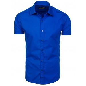 Pánske modré košele s krátkym rukávom na leto