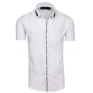 Pánska košeľa s krátkym rukávom bielej farby