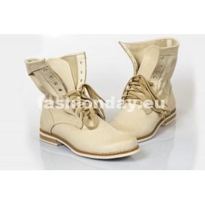 Dámske kožené topánky  bežové DT207