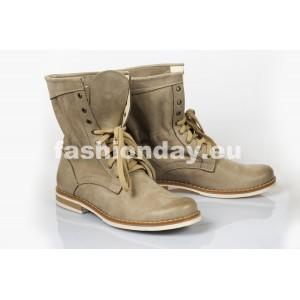 Dámske kožené topánky cappuccino DT208