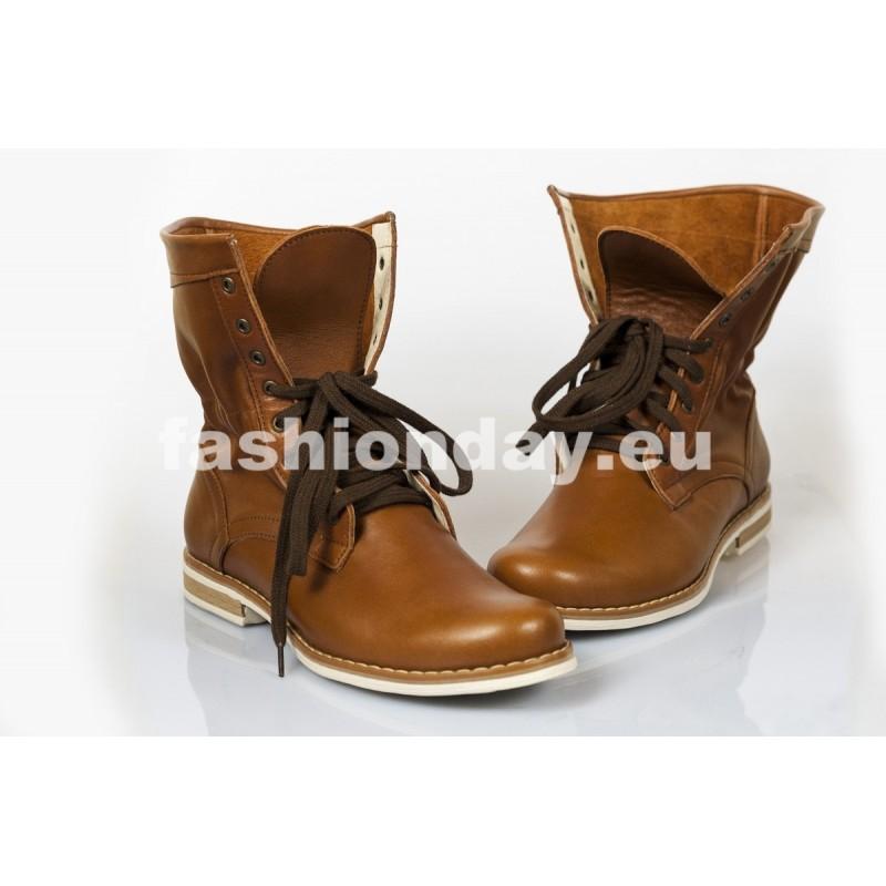 3173a9094c4e Dámske kožené topánky hnedé DT210 - fashionday.eu