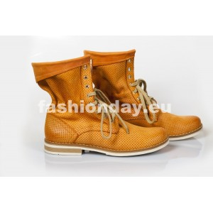 Dámske kožené topánky tekvicové DT212