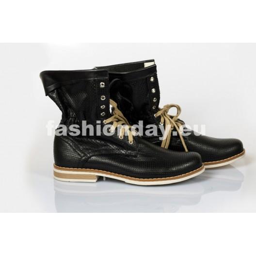 Dámske topánky Pravá koža Farba čierna
