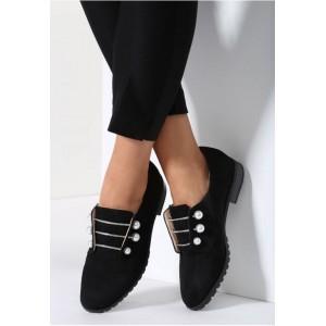 Čierne dámske štýlové poltopánky