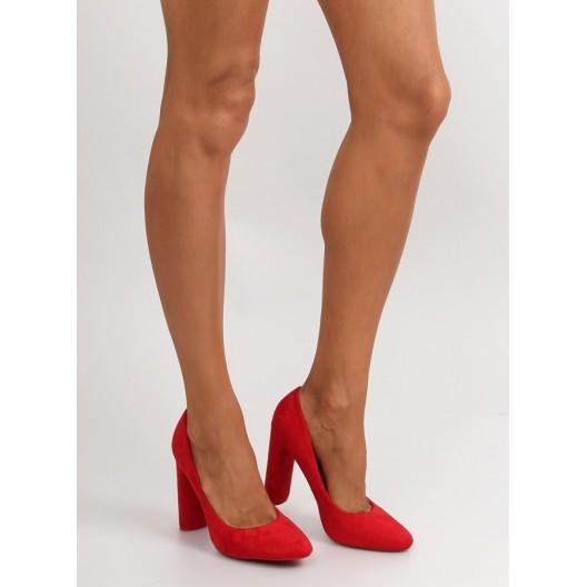 Červené štýlové lodičky pre dámy