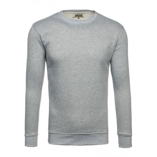 Sivé bavlnené pánske mikiny na voľný čas