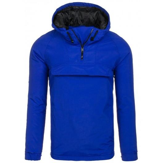 Pánska prechodná bunda modrej farby