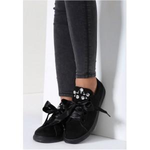 Čierne dámske topánky na voľný čas