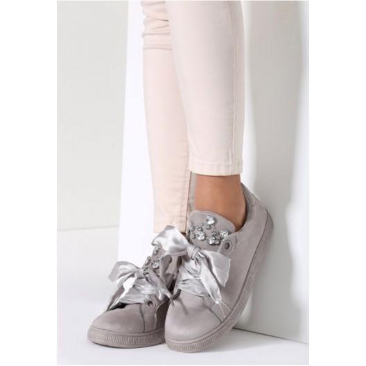 Elegantné dámske tenisky v sivej farbe