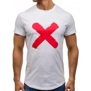 Biele pánske tričká s krátkym rukávom