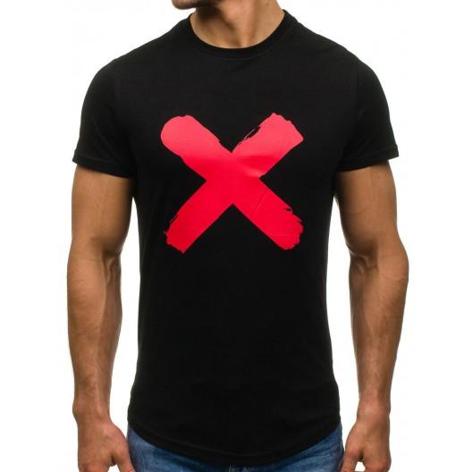 Čierne tričko s motívom pre pánov