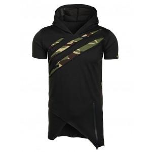 Bavlnené pánske tričko v čiernej farbe