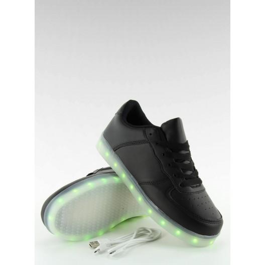 Športové dámske topánky v čiernej farbe