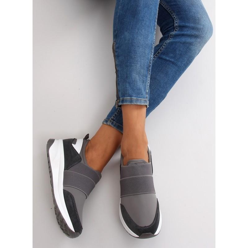 b7c3e821f Sivá dámska športová obuv na platforme - fashionday.eu