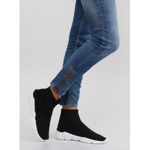 Čierna dámska športová obuv na voľný čas