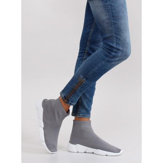 Sivé kotniková obuv pre dámy