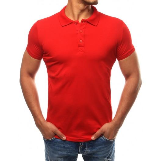 Bavlnené pánske polokošele v červenej farbe