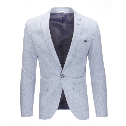 Sivé elegantné sako pre pánov