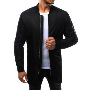 Čierna bomber bunda na zips