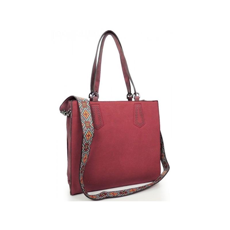 4cff92c62b Štýlová dámska shopper kabelka červenej farby - fashionday.eu