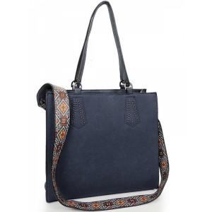 Elegantná shopper kabelka modrej farby