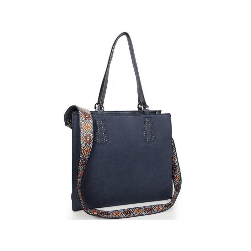 aa027b26fe Elegantná shopper kabelka modrej farby - fashionday.eu