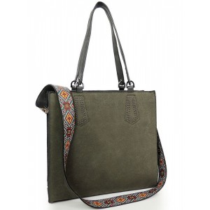 Moderná shopper kabelka zelenej farby