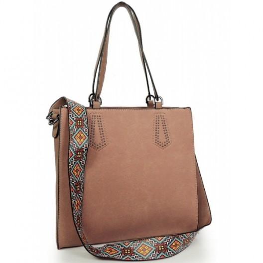 Ružová shopper kabelka pre dámy