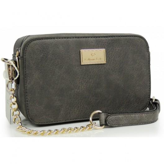 Elegantná listová kabelka v sivej farbe