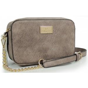 Béžová listová kabelka pre dámy
