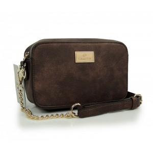 Hnedá BOHO dámska kabelka so srdiečkovou prackou 3f2096ac186