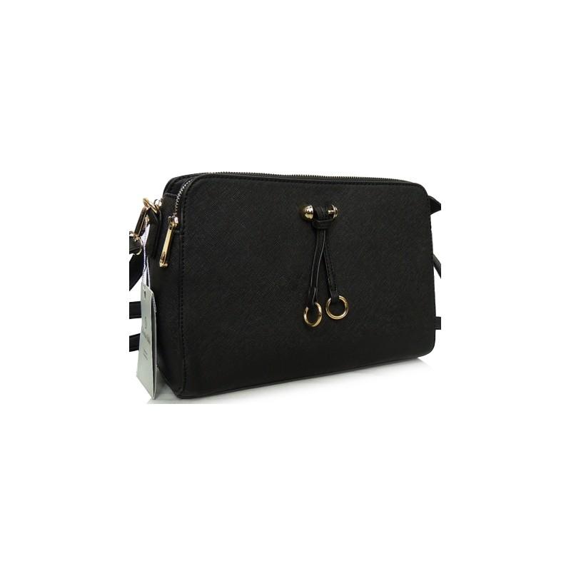 Listová kabelka do ruky v čiernej farbe - fashionday.eu 285324c70aa