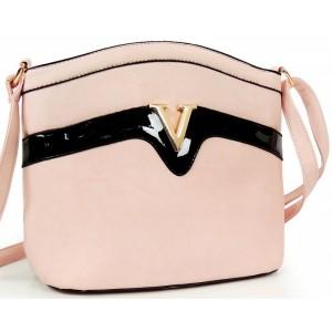 Ružová dámska elegantná listová kabelka