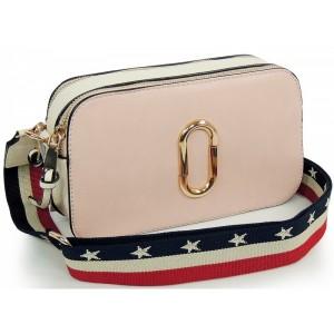Ružová listová kabelka s remienkom