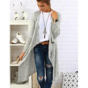 Štýlový dámsky sveter sivej farby