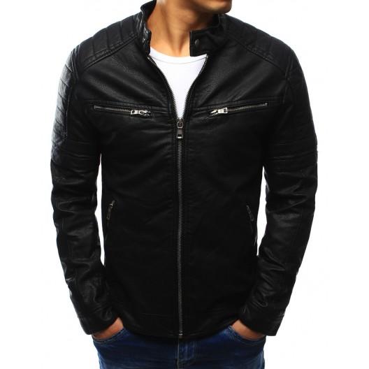 Štýlová pánska bunda v čiernej farbe