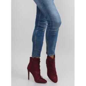 Dámske elegantné topánky červenej farby