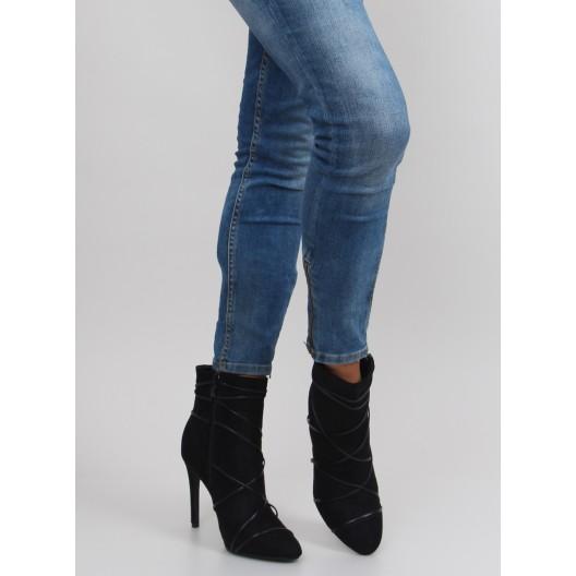 Čierne dámske spoločenská obuv