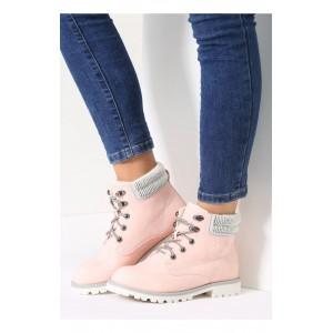 Ružová oteplená dámska obuv