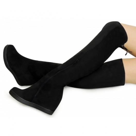 Čierne dámske zimné čižmy