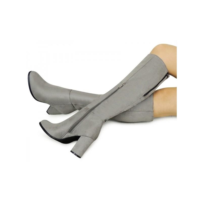 653d6c289 Sivé dámske čižmy na zimu - fashionday.eu